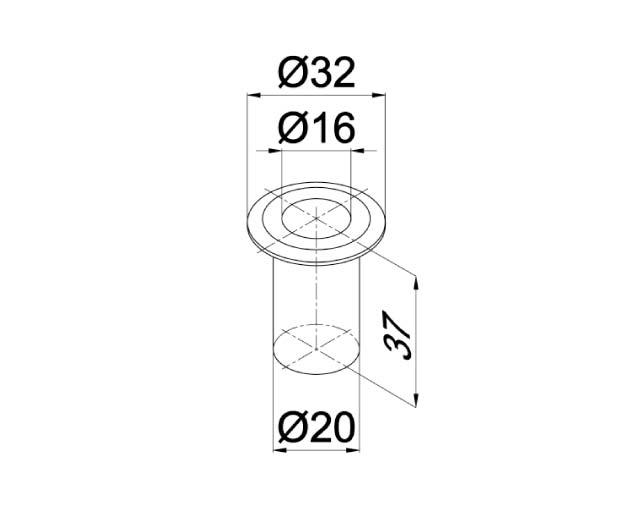 T-100-6 SSS Ответная часть в пол для замка с круглым ригелем с подпружиненной крышкой