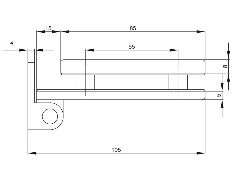 TI-85-4-2 PSS   Боковая петля на коробку