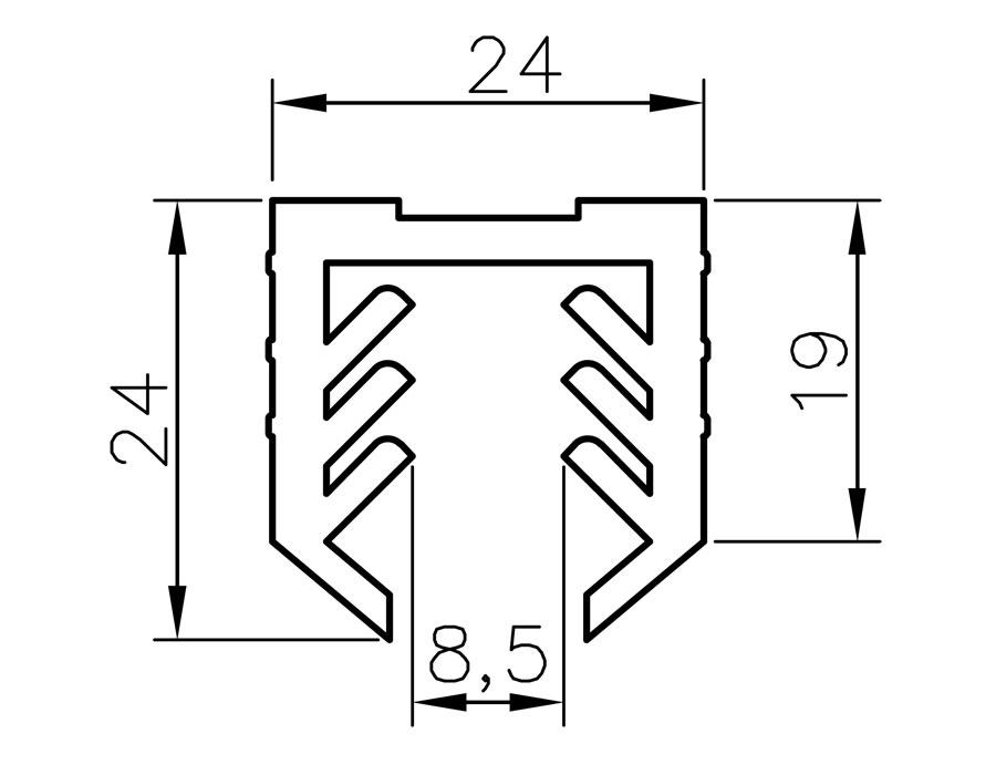 T-104-6 Уплотнитель 6+6 (длина 3000м) диаметр 48,3 мм