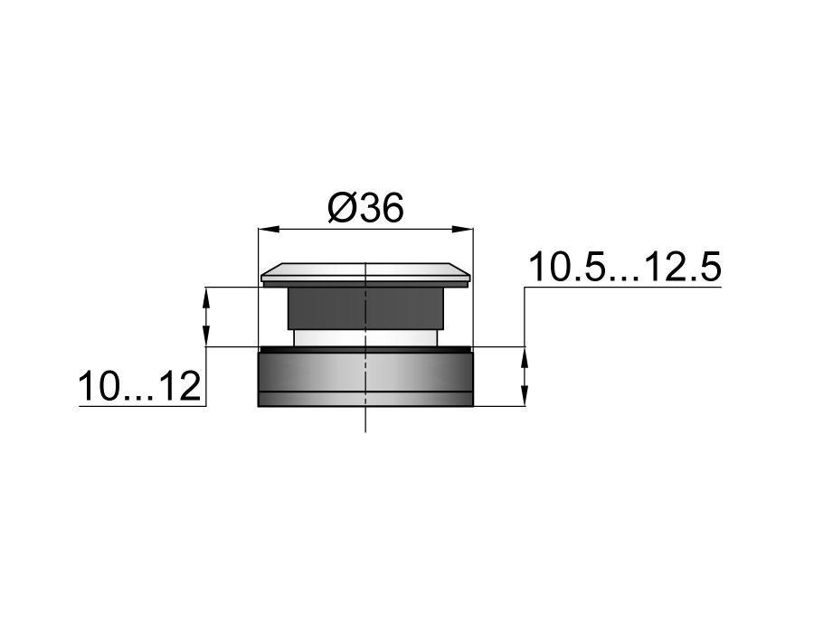 TT-503А SSS Точечное крепление регулируемое без зенковки 10,5-12,5mm