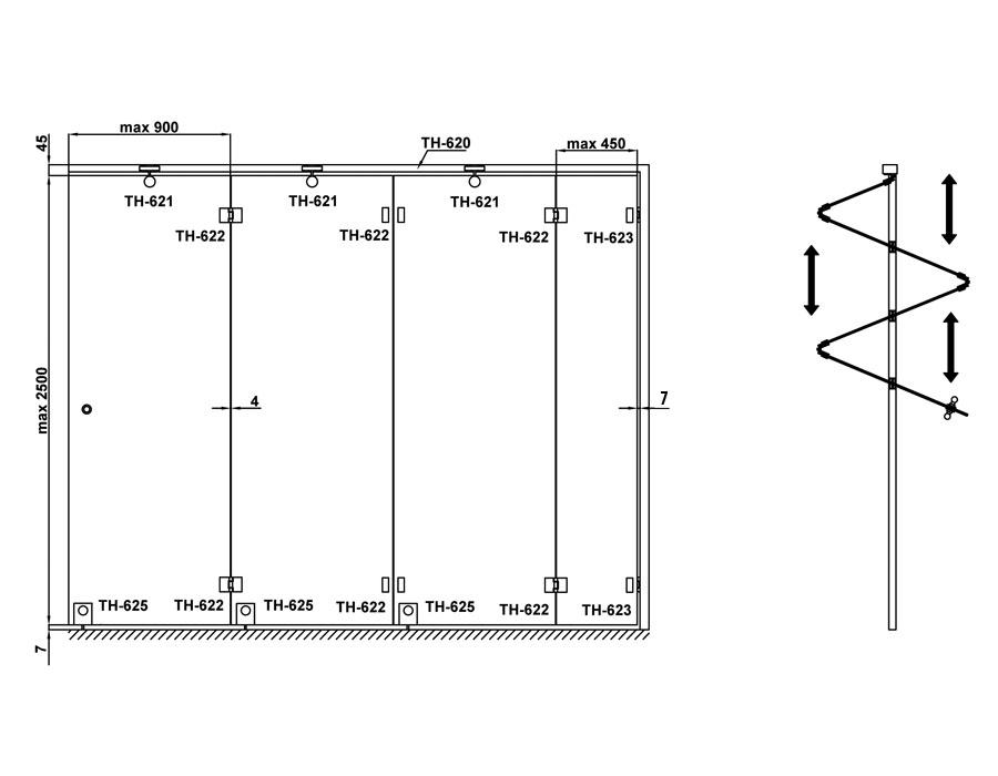 TH-620 L=5000mm AL трек