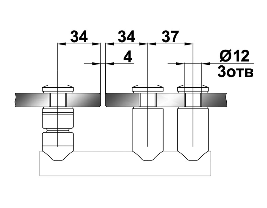 TB-796 SSS Стопор на стекло