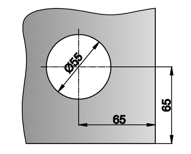 T-034 AL Замок центральный/угловой с ответной частью на стену