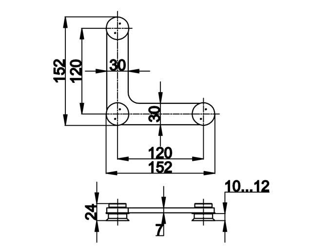 TB-760 SSS Фитинг угловой под зенковку