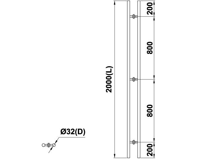 T-633 32x800x800х2000 СК SSS Ручка комплект