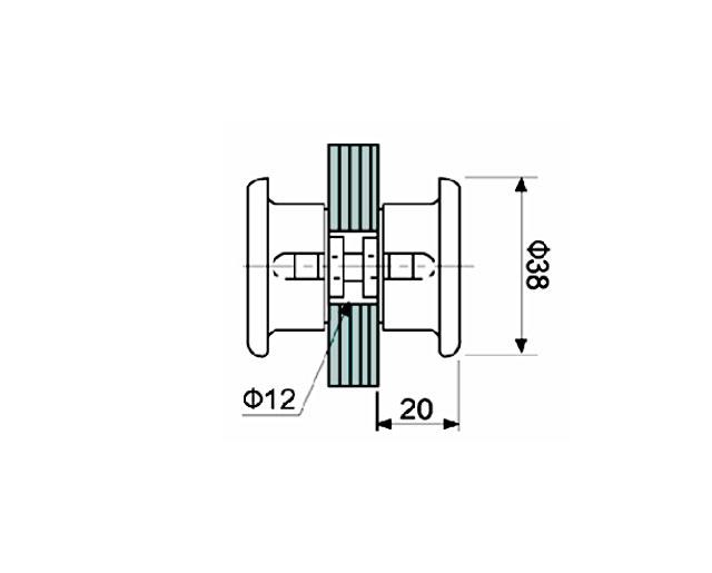 T-695 BLC Кноб комплект