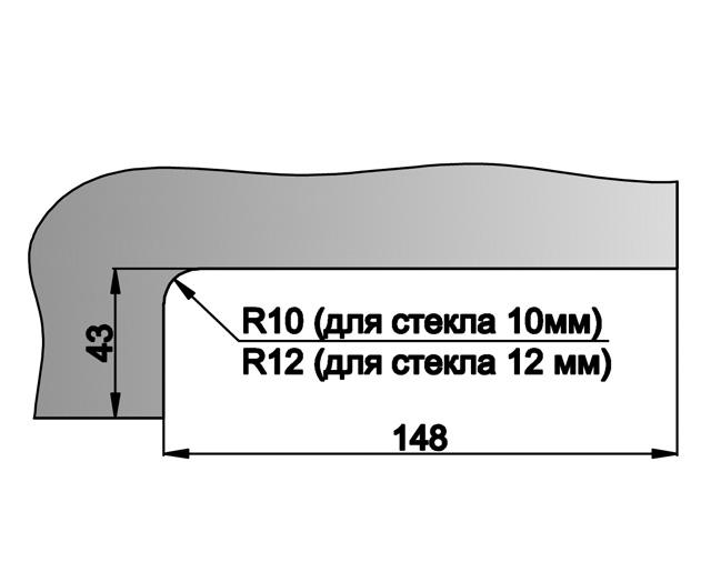 T-150R AL Замок угловой с круглым ригелем комплект