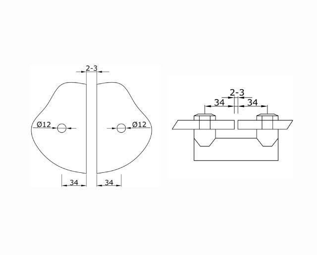 TB-753 SSS Коннектор стекло--стекло