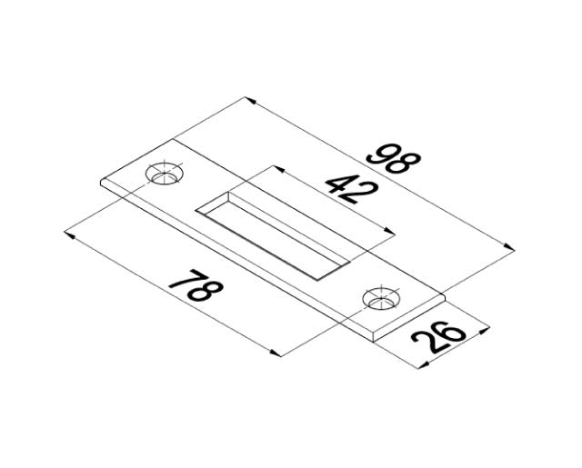 T-100-2 PSS Ответная пластина для замка с квадратным  ригелем
