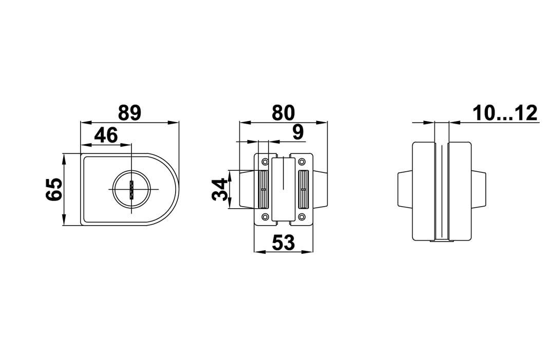 T-012 SSS Замок ключ-ключ