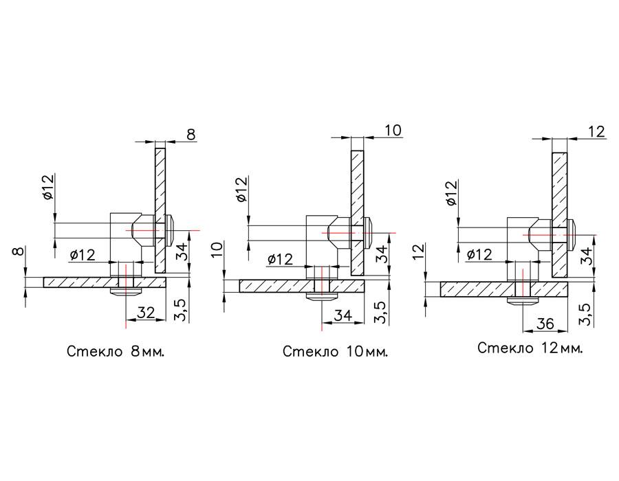 TB-753-2 SSS Коннектор стекло-стекло