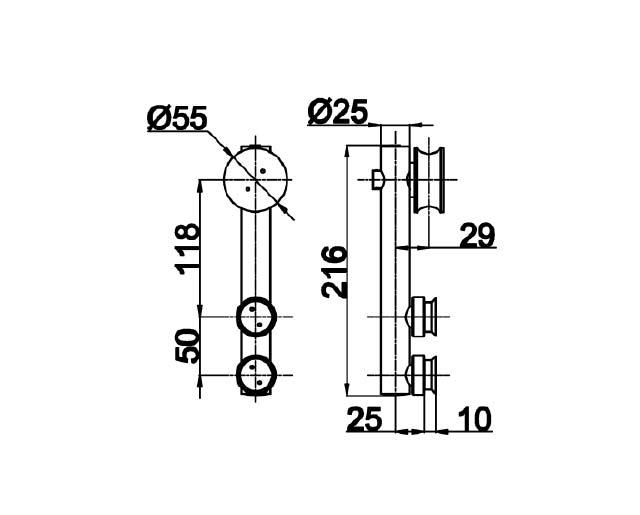 TB-815 PSS Каретка цилинрическая