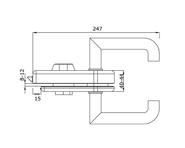 TI-86 А PSS   Замок с притвором (с ручкой)