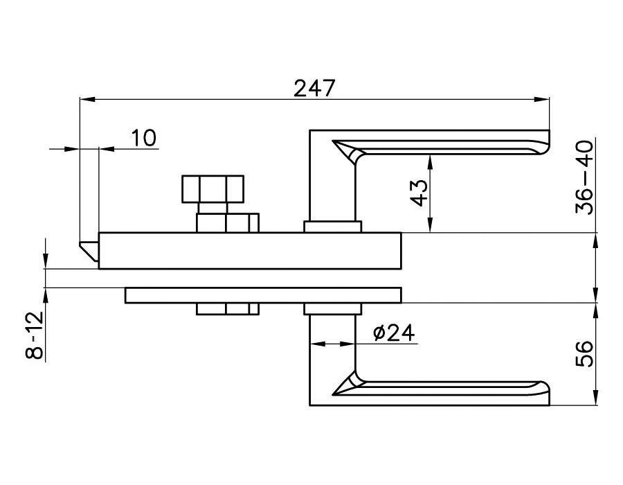 TI-86 GAM AL   Замок с притвором (с ручкой)