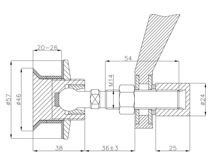 BPZ-14-58-B SSS Крепление спайдера к стеклу