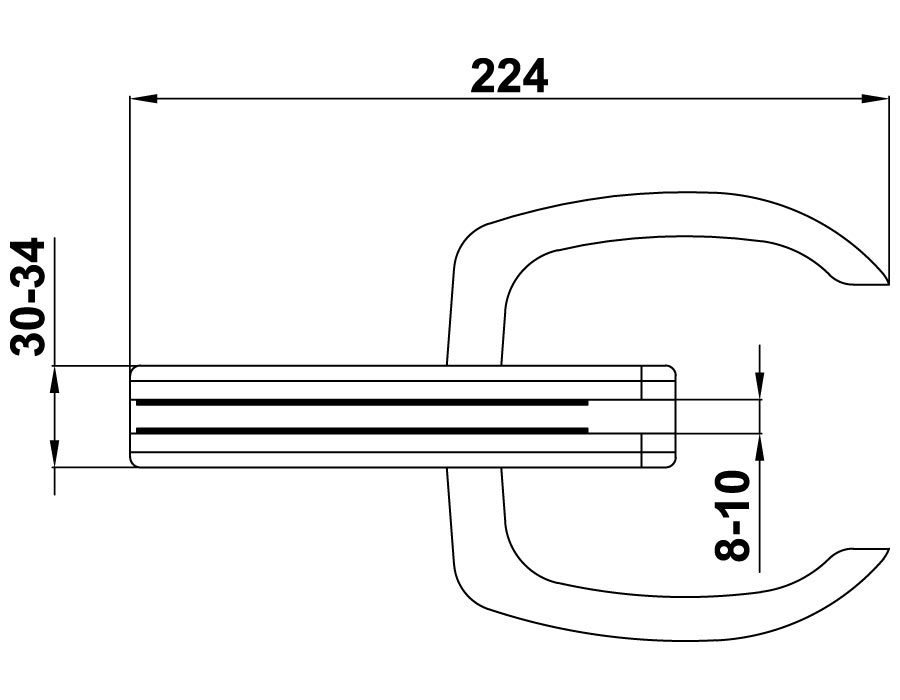 TI-75-2-А SSS  Ответная часть на стекло для замка TI-75 SSS