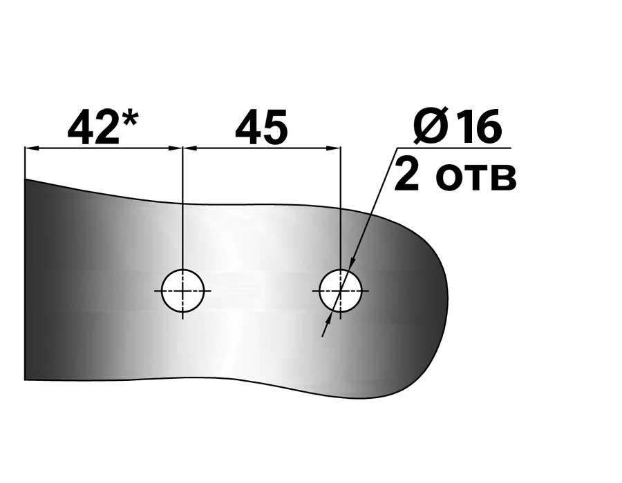 TI-87-4N AL   Боковая петля на коробку