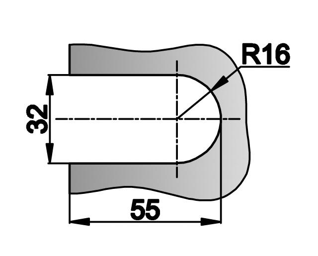 T-032 AL Защелка на стену
