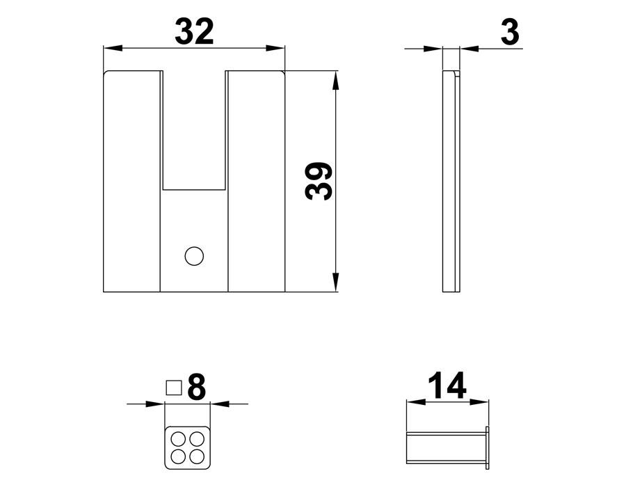 T-Заглушка светлая для Т-40Н пластик (компл.на одну сторону)