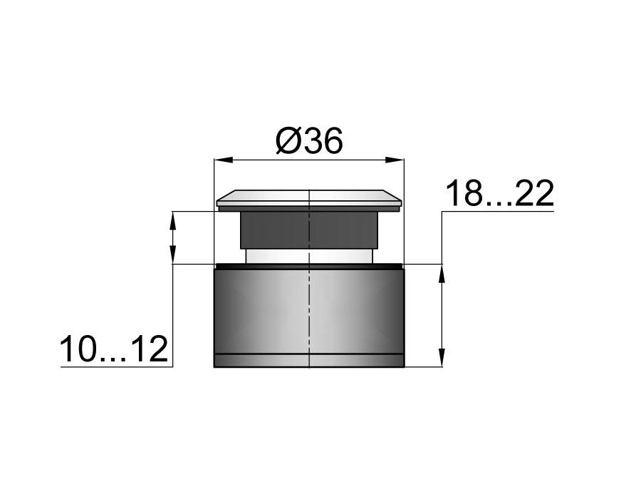 TT-506А SSS Точечное крепление регулируемое, без зенковки 18-22mm