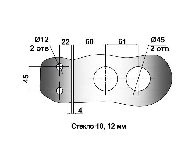 TI-87-2 SSS (М/О 45mm) Ответная часть на стекло