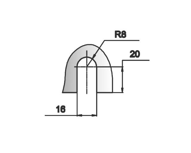 T-703 SC Коннектор стена - стекло