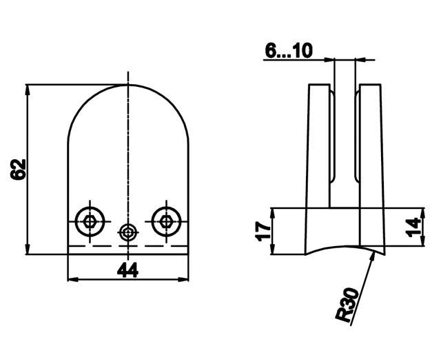 T-764A PC Коннектор  крепление к трубе