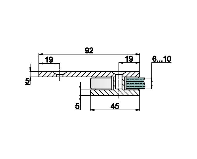 T-723 PC Коннектор стекло - стена