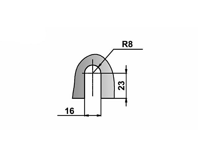 T-722 OBR Коннектор стекло - стена