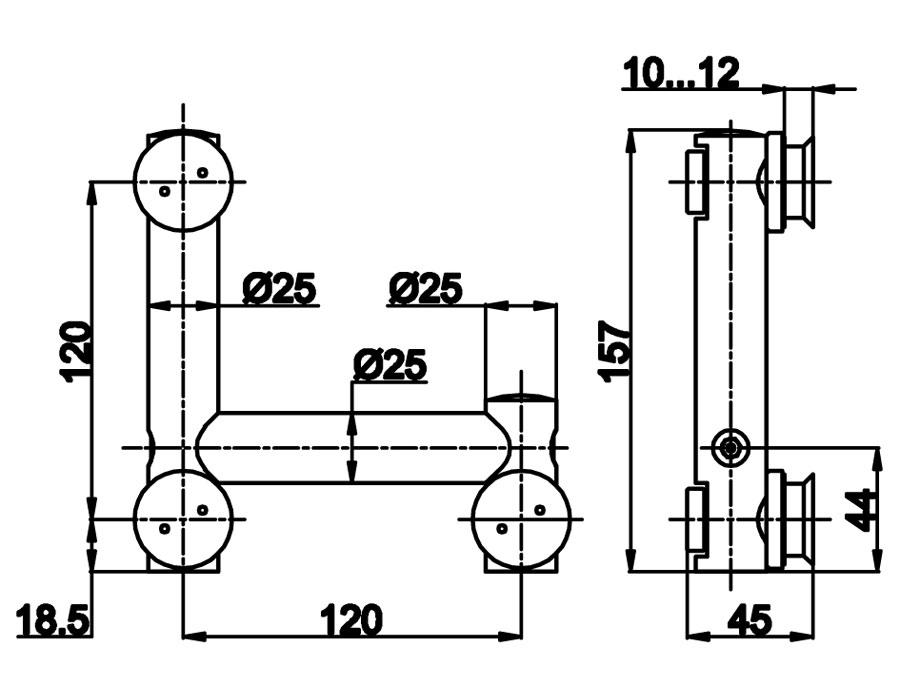 TB-765 SSS Фитинг угловой цилиндрич. под зенковку