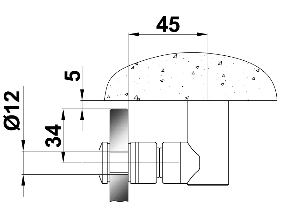 TB-795 SSS Стопор напольный