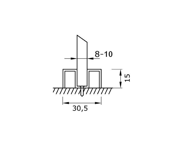 TA-758 10mm L=2000mm SSS Профиль опорный