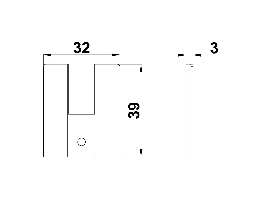 T-Заглушка для Т-40 Т пластик (компл.на одну сторону)