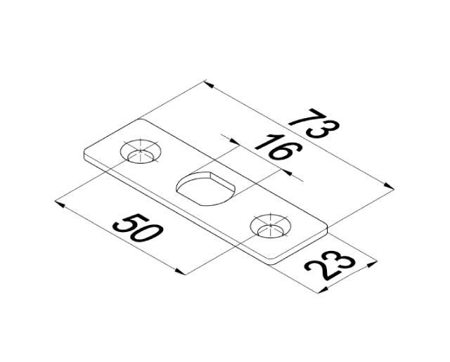 T-100-8 SSS Ответная пластина для замка с круглым ригелем