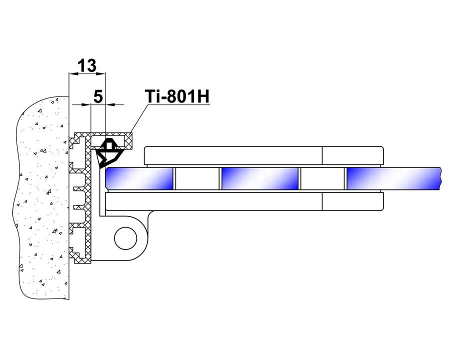TI-80-4-2 (цвет Черный) Боковая петля на коробку
