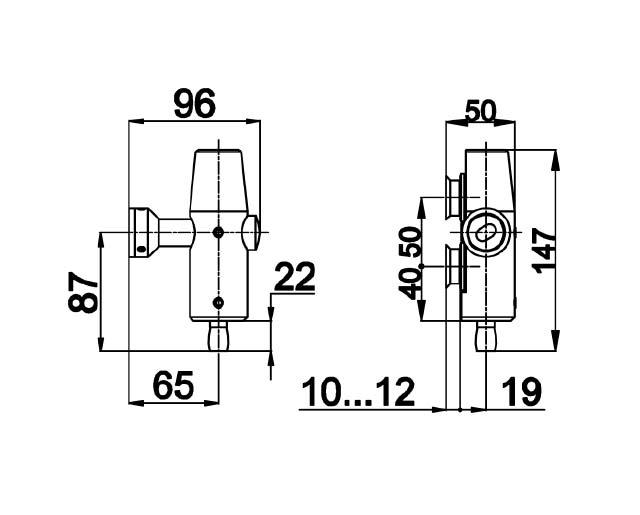 TB-730 SSS Фитинг на фрамугу с осью под зенковку