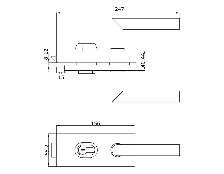 TI-85 PSS   Замок с притвором (с ручкой)
