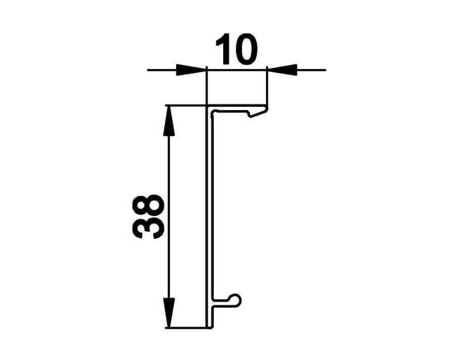 T-40К AL Профиль зажимной крышки