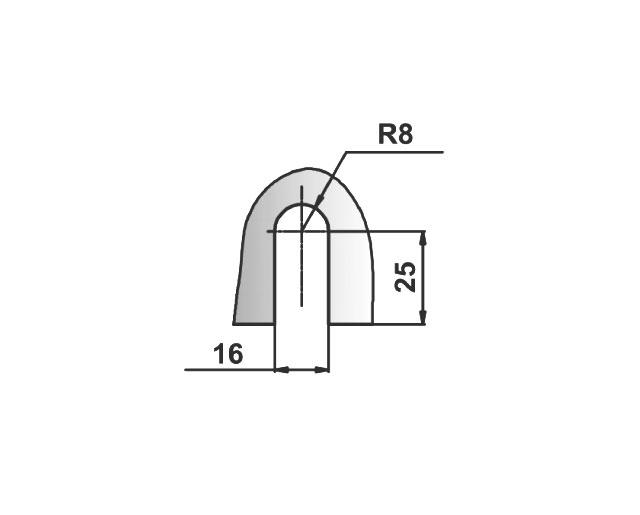 T-726 SC Коннектор стекло - стекло 135 гр.
