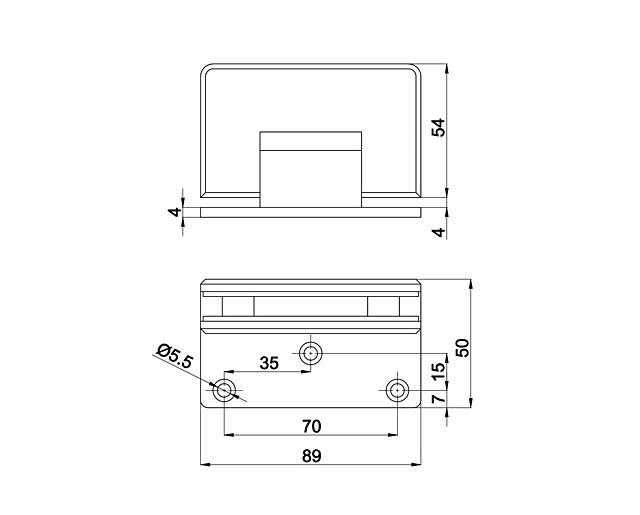 T-305 TP Петля стена - стекло одностороннее крепл.