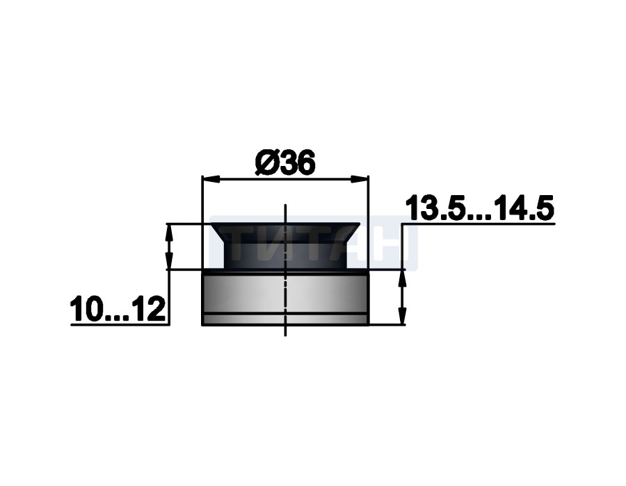 TT-504 SSS Точечное крепление регулируемое 12,5-14,5mm