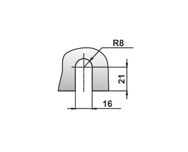 T-721 BLC Коннектор стекло - стена