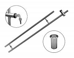 T-482В-1А 25*1100*200*1500 SSS Ручка с замком (защелка + ключ)