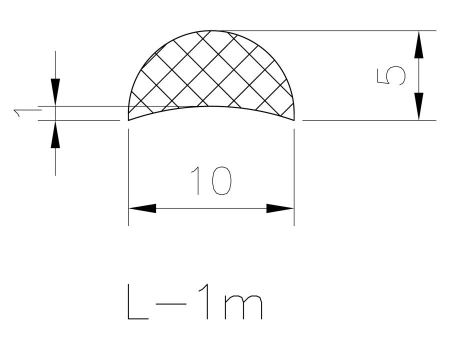 T-218 10х5mm L=1000mm Порог прозрачный
