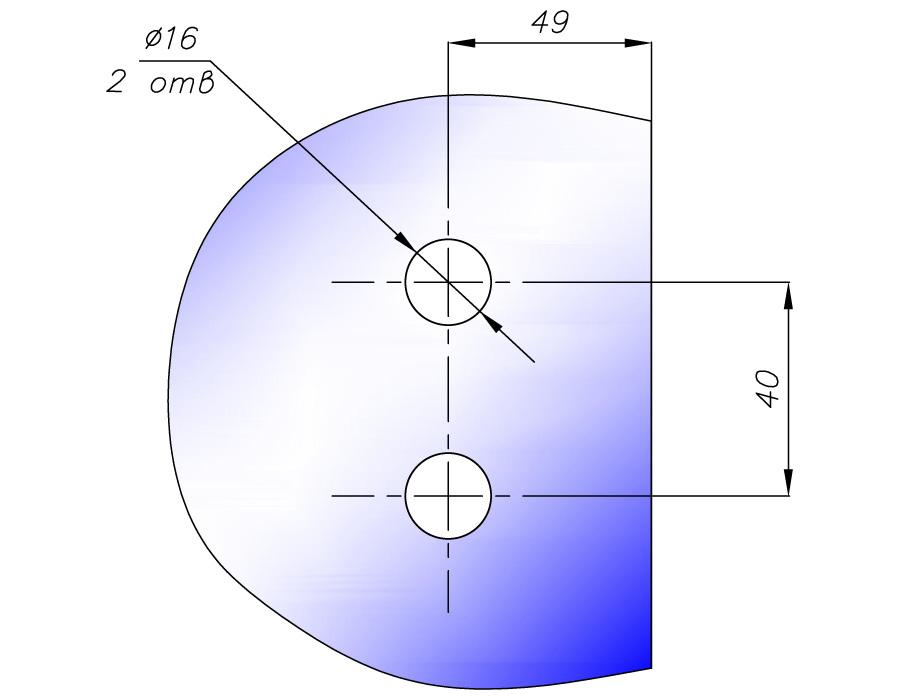 TH-623 SSS петля стена-стекло