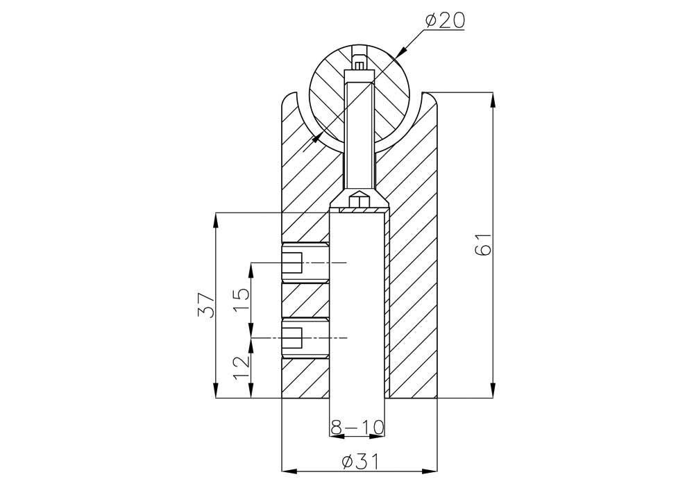 TA-780 SSS Держатель трубы