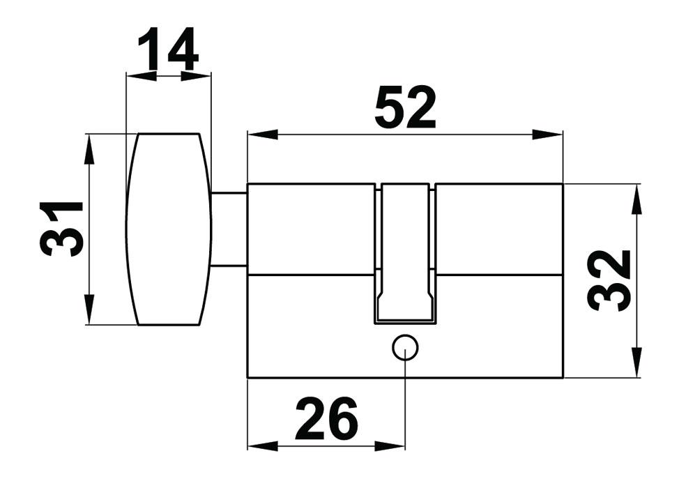 0075 SSS Евроцилиндр (ключ/защелка)