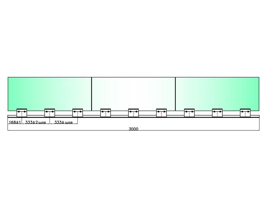 T-400L 100mm Профиль зажимной база