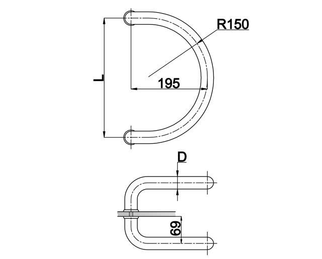 T-629 32x305 SSS Ручка комплект
