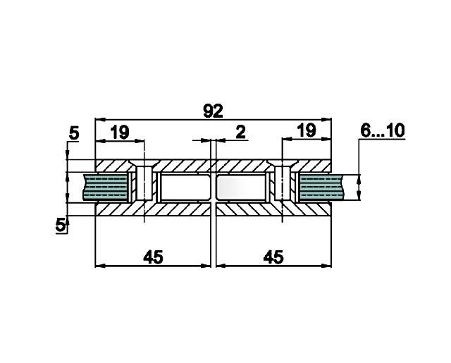 T-724 ТР Коннектор стекло - стекло